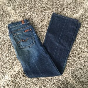 7 for all Mankind 27 Blue Bootcut Jeans Size 27
